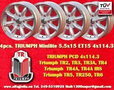 4 Cerchi Triumph TR2 TR3 TR4 TR5 TR6 Minilite 5.5x15 4x114.3 Wheels Felgen
