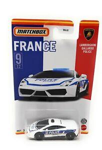 Matchbox France Serie Lamborghini Gallardo Police Superfast 2021 France card