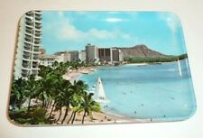 Vintage Hawaii Movie Supply Coin Tip Tray Beach Scene Made in Italy Souvenir
