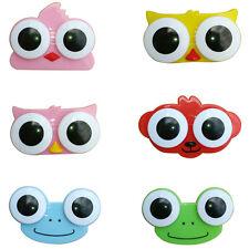 Mini Cartoon Lovely Owl Frog Big Eye Storage Contact Lens Box Case Holder Gift