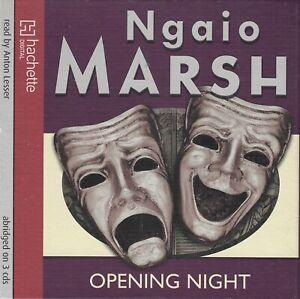 Ngaio Marsh Opening Night 3CD Audio Book Abridged Inspector Roderick Alleyn 16