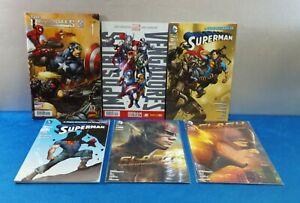 LOTE 6X COMICS ULTIMATES 3 IMPOSIBLES SUPERMAN FLASH ESPAÑOL DC COMICS MARVEL