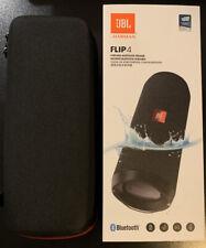 JBL Flip 4 Wireless Portable Bluetooth Speaker System (Black) w/ Case