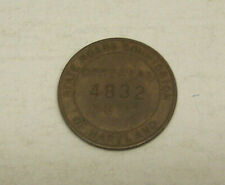 Vtg. Transit Token Official Duty Truck State Roads Commission Maryland - #4832