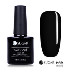 UV Gel Nail Polish Soak Off Pure Colors Gel Varnish Manicure Blue Black Shiny