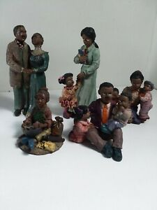 Lot Of 5 African American Black Figurines. Unbranded