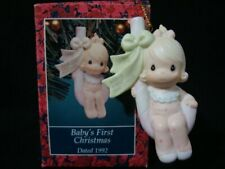 Precious Moments Christmas Ornament-1992 Dated Baby's 1'St Girl!
