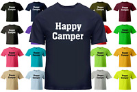Happy Camper T-Shirt Unisex Short Sleeve S~3XL Camping Gift Tee Shirts