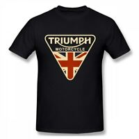 Cracked Shirt Union Jack Triumph Motorcycle Men T Shirt UK Flag Men's T Shirts