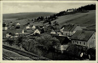 Katharinaberg Erzgebirge Sudetengau DDR s/w AK 1947 Blick über die Gleise Totale