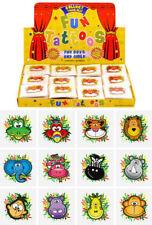 72 Jungle Temporary Tattoos (6 Bags Of 12) - Pinata Animal Loot/Party Bag Filler