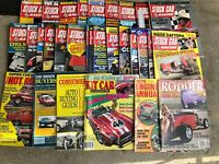 FRB-#735 LOT OF 30 vintage CAR magazines - STOCK CAR RACING and others