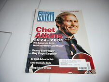 DEC 2001 ACOUSTIC GUITAR vintage music magazine CHET ATKINS