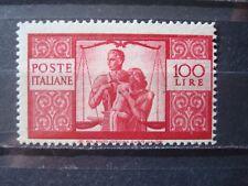 ITALY 1945 100 L MNH** COT. 540 EUR / nr 503