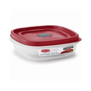 Rubbermaid Easy-Find Lid Food Storage Container, 3-Cups