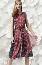 NWT Diane von Furstenberg Nieves Silk Print Fit And Flare Dress 10 $498