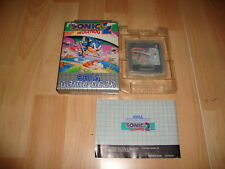 SONIC THE HEDGEHOG 2 PARA LA SEGA GAME GEAR 671-2554-50 USADO COMPLETO