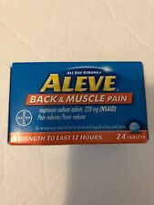 Aleve Back & Muscle Pain, 24 tablets, exp. 03/21