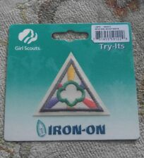 Brownie Girl Scouts GIRL SCOUT WAYS Badge Try It Iron On Emblem Patch NIP