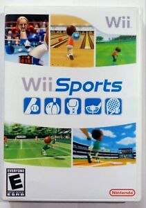 WII Sports - REPLACEMENT Case + Artwork ONLY -- NO GAME nintendo art SHIPS TODAY