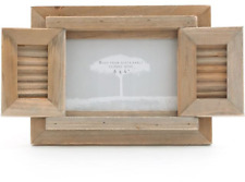 Driftwood Style Photo Frame With Shutter Doors Home Decor 6x4