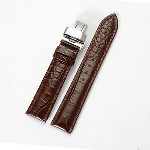 18mm Brown Leather Watch Band Strap Made For OMEGA SEAMASTER SPEEDMASTER