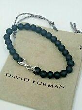 David Yurman Men's Spiritual Bead Bracelet with Matte Black Onyx - 8.5 inches