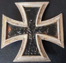 ✚7752✚ German Iron Cross First Class medal post WW2 1957 pattern maker: DEUMER