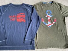 Mini Boden Boys Union Jack T Shirt & Long Sleeved Top Age 11-12