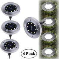LED Solar Power Ground Lights Floor Decking Patio Garden Outdoor Lawn Path Lamps