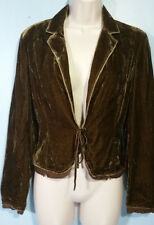 INC Plush Color-Shifting Style-Jacket Lined+Edged Tie-Front Sz S Classy + Cute