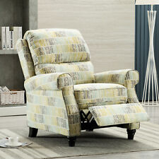 Accent Recliner Chair Fabric Push Back Armchair Thick Seat&Back Sofa Home Decor