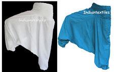 Hippie Baho Cotton Fabric Indian Harem Pant Set Of 2 Nutural HandBlock Print