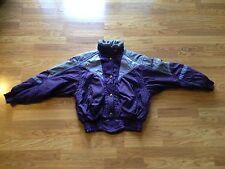 Women's Descente Purple Polyester/Nylon Winter Ski Snow Jacket Size: 10
