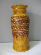 Bay Keramik Brown and Tan Floor Vase