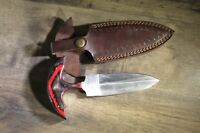 Custom hand made High Carbon Steel Dagger with nice leather sheath