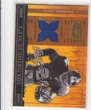2004 Leaf Certified Skills Tiki Barber game used jersey card 082/175 Giants Uva