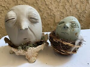 Myna Synou Clay Head Sculptures circa 2006-ish LowBrow Los Angeles