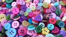 """500 SMALL COLORFUL DESIGNER BUTTONS IN SIZES 1/4"""" to 5/8"""" -BULK SMALL BUTTONS!!"""