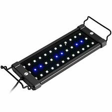 Extendable LED Aquarium Hood Lighting Fish Tank White & Blue Light Freshwater