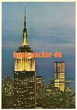 AK/Vintage postcard: NEW YORK CITY SKYLINE AT NIGHT (1960er) World Trade Center