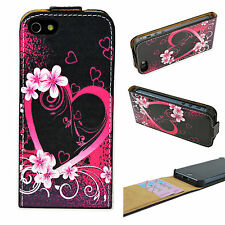 Fashion PU Leather Card Slot Full Case Cover Skin For Apple iPhone SE 5 5G 5S
