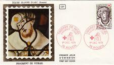 Enveloppe 1er Jour ROUEN 01/12/1979 église Jeanne d'Arc fragment de vitrail ti.