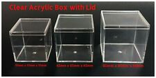 Clear Acrylic Display Box - with Clear Lid - 55 X 55mm, 65 X 65mm,  80 x 80mm