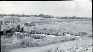 Selsey Old railway carriage lobster pots negative 1950's West Sussex photograph