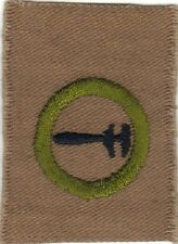 BOY SCOUT MACHINERY #2 SQUARE TEENS MERIT BADGE (TYPE AA) MINT