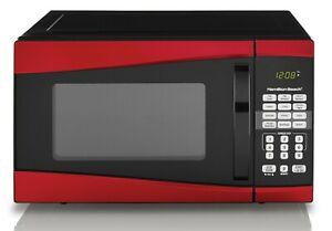 Hamilton Beach 0.9 Cu. Ft. 900W Red Microwave Countertop