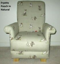 Fryetts Pooch Fabric Child's Chair Natural Armchair Kids Children Dogs Puppies