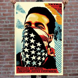 Shepard Fairey - American Rage - Obey Giant - Art Original Print Signed & Dated.