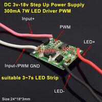 300mA 7W LED Driver PWM Light Dimmer DC-DC 3V-18V Step Up Module 3S-7S LED Strip